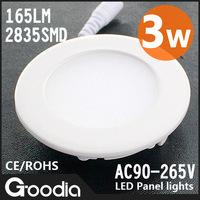 Kitchen light 2835SMD,AC90-260V,3w,CE&ROHS,Cool white /Warm white,led lighting,LED panel,165LM,15pcs led,Free shipping,Hot sale