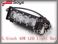 SOYE brand 5.5'' 40w  10w /CREE  spot flood combo LED bar lights,  led light bars for offroad ,led bar