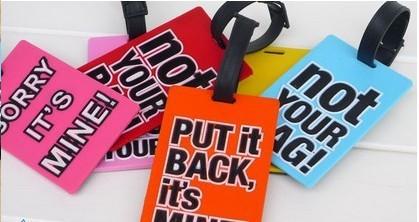 Free shipping(10pcs/lot )tag pvc luggage tag/ 3D ca