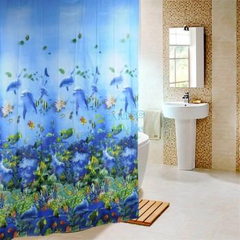 High Quality 180 x 180 Polyester Bathroom Ocean Sea Life Waterproof Fabric Shower Curtain Drop Shipping TK0761
