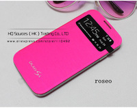 10pcs/lot Flip Leather Case S  View Cover For Samsung Galaxy Mega 6.3 i9200  + free shipping