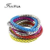 Colorful Music Tennis Bracelets Bangles Fashion New 2014 Elegent Gold Color Alloy Bijoux Women