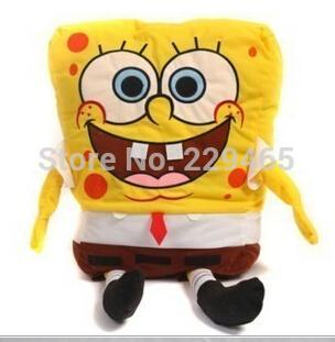 Super soft spongebob plush doll toy stuffed animals kids like cartoon figure 50cm for birthday party gift retail bob sponge(China (Mainland))