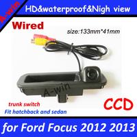 "CCD 1/3""  HD night version Car Rear back Camera for Ford Focus 2012 2013 Reverse Camera for focus 2 focus 3 car rear view camera"