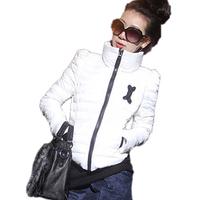 S-XXL! 2014 new winter high collar from shoulder short paragraph Slim flu Down cotton padded jacket,Coat women #3031