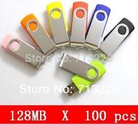 Wholesale 100pcs/Lot X 128MB USB Memory Flash Drive Thumb Stick Pendrive Promotion gifts Free customized Logo Print