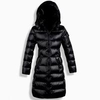 Winter Slim Long Down Coat Women's Down Jacket Thickening