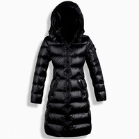 Winter Slim Long Down Coat Women's Down Jacket Thickening