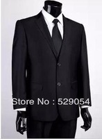 Free Shipping High-quality Fashion brand Men's Suit! business men's slim clothing ,Suit + Pants Hot Sale260
