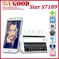 5.3 Inch QHD Screen Star S7189/ N7189 MTK6589 1.2GHz 3G Smartphone 1GB RAM 4GB ROM Android 4.2 Dual Camera With 2 Piece Battery