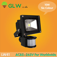 Outdoor Floodlight 240V 10W 20w 30w 50w  PIR LED Flood light White Warm 6 color Floodlight Motion Sensor A85V-265V LW41