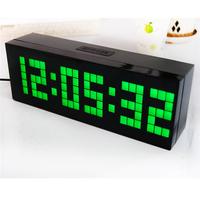 Free Shipping Cool Clock Designs Wall alarm Clock LED Light Art table Clocks 2014 Luminous temperature calendar