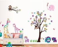 Free Shipping monkey tree home decal for room decoration sticker
