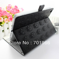 Cover Protector  Skull PU Leather Case with Stand for iPad Mini Tablet Tab PC