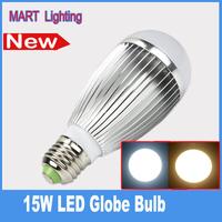 Free shipping E27 15w led globe bulb warm smd5730 brighter bubble ball lamps AC85-265V