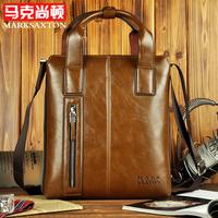 MARKSAXTON genuine leather male briefcase portfolio,brand desinger business tote handbag shoulder bag free shiping