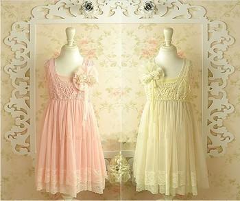 Summer New design Korean High grade girls sleeveless lace pearl Hook Subtle sweet dress,fairy 2 colors free ship 2--13years