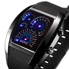 Fashion Cool LED Digital Man Watch Handsome Dials Male Best Choice Free Shipping WLED1067(China (Mainland))
