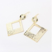 Personality fashion elegant and graceful exaggerated hollow square drop earrings Free shipping Min.order $10 mix order