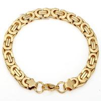 6/8/11mm Gold /Black Tone Byzantine Stainless Steel Bracelet Mens Chain Bracelet Promotion Bulk Sale Personalized Jewelry LKBM31