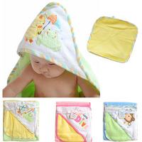 Hooded Animal modeling Baby Bathrobe/Cartoon Baby Towel/Character kids bath robe/infant bath towels +baby washcloths set