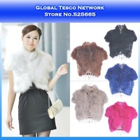 New 2014 Spring Womens Faux Fur Fox vest Short Coat jacket Warm Autumn winter Waistcoat White Khaki Black Blue Rose