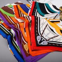 2014 Autumn-summer Luxury 100% Silk Scarf Designer Big Size Silk Scarves For Women Pure Silk Brand Shawl Scarfs 90x90cm SF0164