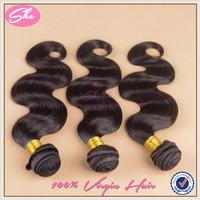 She hair peruvian virgin hair body wave no tangle,cheap peruvian hair weaves 3pcs free shipping,soft human hair extension