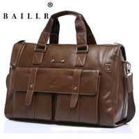 2015 high quality PU soft leather men handbags shoulder bag business male luggage large capacity men travel bags