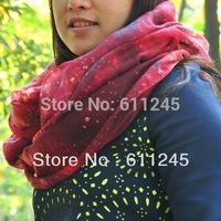 Min order is usd15 High Quality Harajuku Tone  Galaxy Printed Women's Cotton Loop Scarf