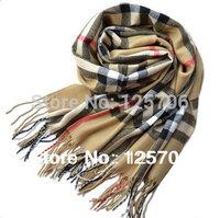 2013 Fashion women plaid scarf plain beach cape tassel big size cotton scarves