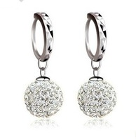 Fashion earrings 2014 100% Sterling Silver 925  Earring Rhinestone Crystal Earrings for Women Allergy Free