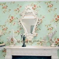 HOT Sellig Modern Mural Wallpaper pink blue green red American rustic flower papel de parede wall paper roll tapete bedroom room