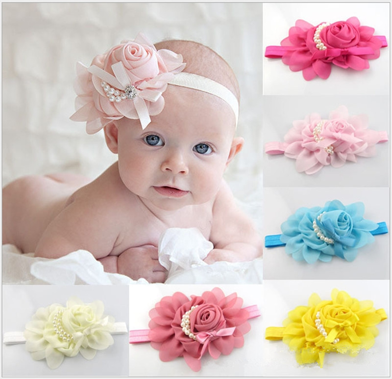 New Style Beautiful Headband Hairband Baby Girls Flowers Headbands Kids' Hair Accessories Baby Christmas Gift TF006 Free MOQ 1PC(China (Mainland))
