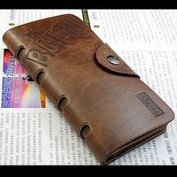 Free shipping Brand High Quality Men's Leather Wallet Long Cowboy Wallet Vintage Men Wallet zipper wallet for men C526-5