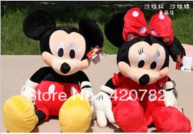 New arrival Kawaii Mickey & Minnie stuffed plush toys valentine gift 36cm wholesaler wedding gift  1 pair 2 pieces