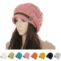 On Sale 2013 Winter New Fashion Women's Hats Warm Black Lady's Caps  Acrylic Warm Woman's Headwear Hat For Female