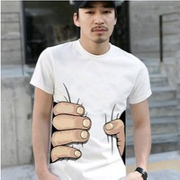 2015 Hot sale Summer Fashion Men's Clothing O-neck Short Sleeve Men Shirt,hot Sale 3d Big Hand T Shirt mens T Shirts Fashion