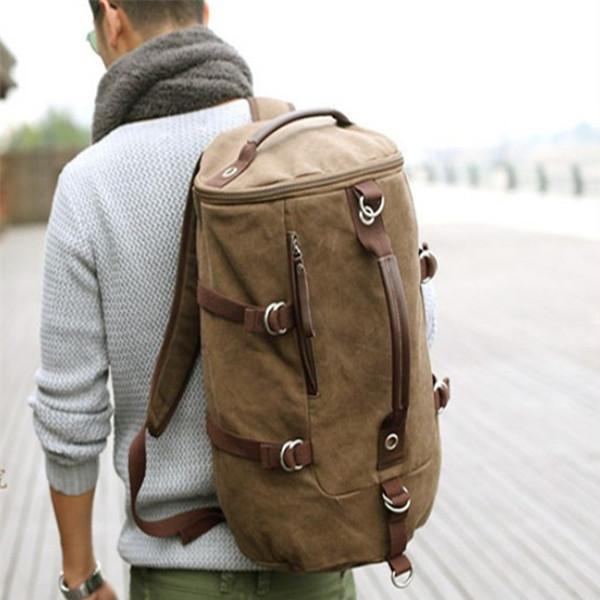 Große kapazität Mann reisetasche outdoor bergsteigen rucksack männer taschen wanderzelt leinwand eimer umhängetasche ys-314