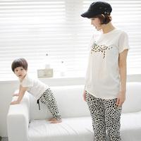 2014 baby kids clothing sets brand Dalmatians animal print cotton t-shirt+pants Family ,for girl / boy / mom / dad