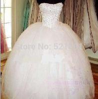 new 2014 weddings princess dress bandage lace wedding dresses china free shipping hts plus size real picture wedding dress