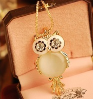 Hight quality opal owl pendant long necklaces sweater chain fashion 2013 new women garments accessories