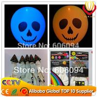 FREE Shipping50pcs/lot flashing balloons halloween decoration favor LED hallween balloon