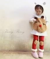 New 2014 Baby girls Outerwear & Coats Rabbit Dress Clothing Set  Girls' Dresses Legging Pants Kids 2pcs Clothes Sets Winter Wear