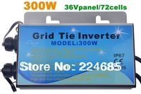 Grid tie inverter,300W,36V panel / 72cells,Waterproof IP67 Pure sine wave inverter,110Vor220V,with MPPT function,solar inverter