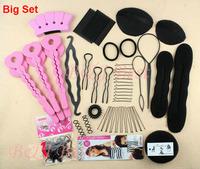 Free Shipping Hair Styling Accessories Kit - Bun Maker Roller Braid Twist Hair Styler Tools Kit