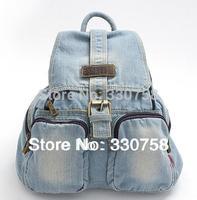 Free Shipping Preppy Style School Student  Denim Bag Women Messenger Bag For Teenage Girl Mochilas 2 colors