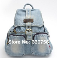 Preppy Style School Student Denim Bag Women Messenger Bag Lengthen Double Straps Back Pack Tote Teenage Girls Mochilas 2 colors