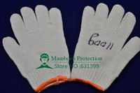 Free shipping 1 dozen /lot 1100g white cotton work gloves safety gloves mechanic gloves Construct gloves