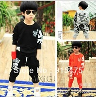 Free shipping spring autumn Fall Sport Set Kids Coats and Pants Child Long Sleeve Boys Girls clothing sets 2 PCS Casual Suit